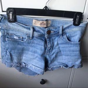Hollister Shorts - Light Wash Jean Shorts